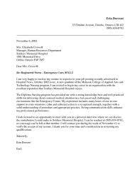 brilliant ideas of new graduate registered nurse cover letter
