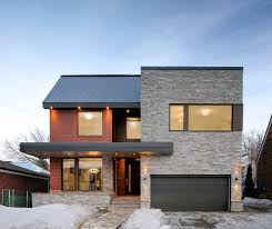 Contemporary Style Homes by Contemporary Custom Homes Exterior Contemporary With Metal Roof