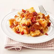gruyere u0026 prosciutto strata recipe taste of home