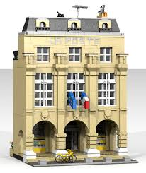 bureau poste louvre moc ldd la poste du louvre modular lego town eurobricks forums