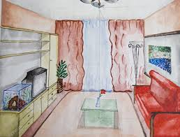 abstract watercolor interior design room design pattern