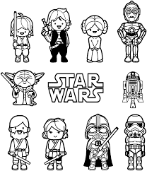 star wars little characters free coloring page u2022 kids movies
