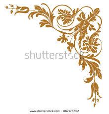 gold vintage baroque corner ornament retro stock vector 519277270