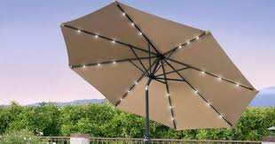 10 foot solar led patio umbrella just 49 99 shipped regularly