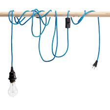 single light bulb with cord sky blue pendant cord with light bulb socket 20 spaces light