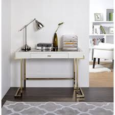 wood and metal writing desk acme furniture boice white wood and metal mirror top desk free for