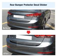 rear bumper hyundai elantra carbon rear bumper protector decal sticker black 1p for hyundai