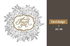 thank you card design with lettering card templates creative