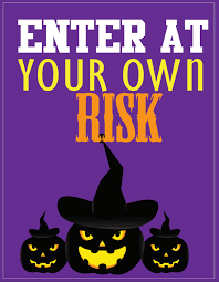 free printable halloween wall art decor witches ghosts pumpkins