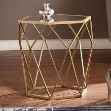 Gold Accent Table Blvd Judy Geometric Gold Accent Table Walmart
