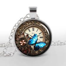 necklace art images Beautiful steampunk butterfly vintage art necklace beautiful jpg