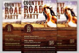 template flyer country free country road party flyer template by go design bundles
