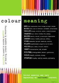 colour meaning visual literacy colour meaning poster by media and english literacy
