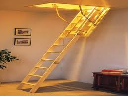 lovely retractable stairs design in home remodel inspiration with