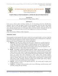 paint pollution harmful effects on environment pdf available