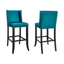 tov furniture tov bs13 denver blue bar stool w bronze nailhead