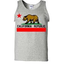 California Flag Bear California Republic Borderless Bear Flag California Republic Clothes