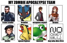 Zombie Team Meme - my zombie apocalypse team by y0sh1rulz on deviantart