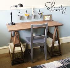 Diy Trestle Desk Restoration Hardware Diy Desk Shanty 2 Chic