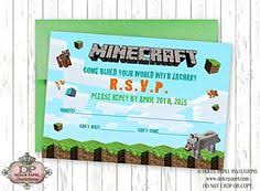 free printable minecraft birthday invitations delaney u0027s 10th