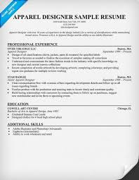 Design Resume Sample by Apparel Designer Resume Example Resumecompanion Com Resume