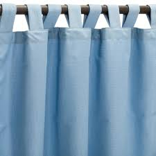 Sunbrella Curtains With Grommets by Canvas Air Blue Sunbrella Outdoor Curtains With Tabs