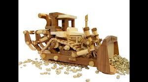 wooden toy bulldozer homemade youtube