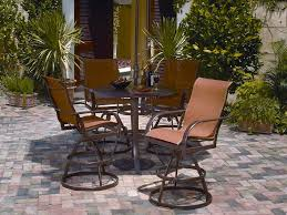 Winston Patio Furniture Cushions by Winston Key West Sling Aluminum Arm Swivel Bar Stool M8013r