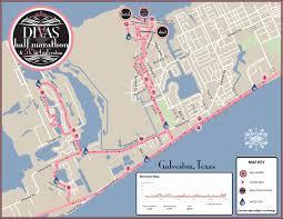 galveston island map divas half marathon 5k galveston tx