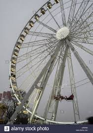 ferris wheel with santa claus sled in hyde park winter