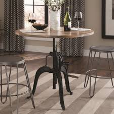 Value City Furniture Bar Stools Coaster Galway Adjustable Height Dining Table With Crank Value