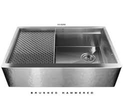 Stainless Steel Farm Sink Legacy Stainless Farm Sink Brushed Hammered Havens Metal
