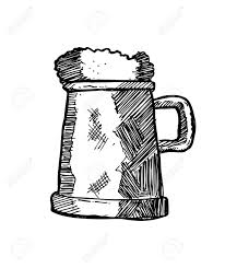 cartoon beer black and white drawn beer beer tankard pencil and in color drawn beer beer tankard