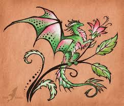 tropical butterfly dragon tattoo design by alviaalcedo on deviantart