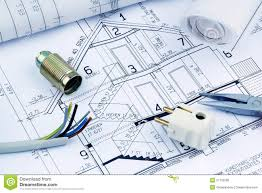 blueprint for a house electrical stock photo image 39565891