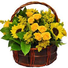 boca raton florist yellow flower basket pb7141 55 00 boca raton fl florist