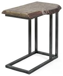 lake oroville rustic natural stone finish living room side table