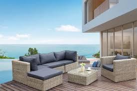 canape de jardin canapé de jardin en résine tressée ronde liberty cosy salon de