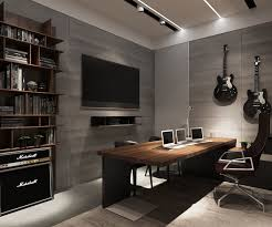 cozy home interior design office masculine cozy home office decoration with gray wall