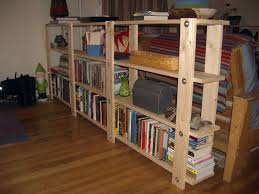 Bookshelves Decorating Ideas Furniture Charming Diy Wood Pallet Bookshelf With Grey Floor