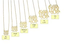 Monogram Necklace Monogrammed Necklace All Collections Of Necklace