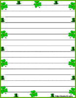 st patrick u0027s day stationery and writing paper