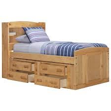 city furniture cinnamon mid tone bookcase storage bed