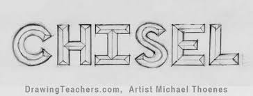 Cool L Shade To Draw 3d Chisel Letters