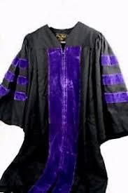 doctoral gown oak academic doctoral gown black w purple velvet trim size