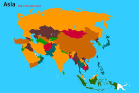 Countries Of Asia Map by Interactive Map Of Asia Countries Of Asia World Geography Games