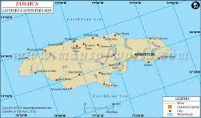 jamaica physical map latitude and longitude map