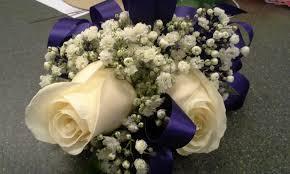 White Rose Wrist Corsage Double White Rose Wrist Corsage Royal Blue 3 By Pippierafrostlin