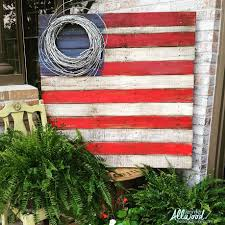 How To Paint American Flag How To Make A Patriotic Pallet Flag