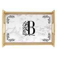 monogrammed serving trays marble ornate custom monogram serving tray 904 custom